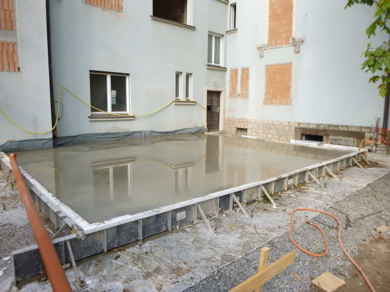 Bodenplatte Anbau Studentenwohnheim DORNBAU 2