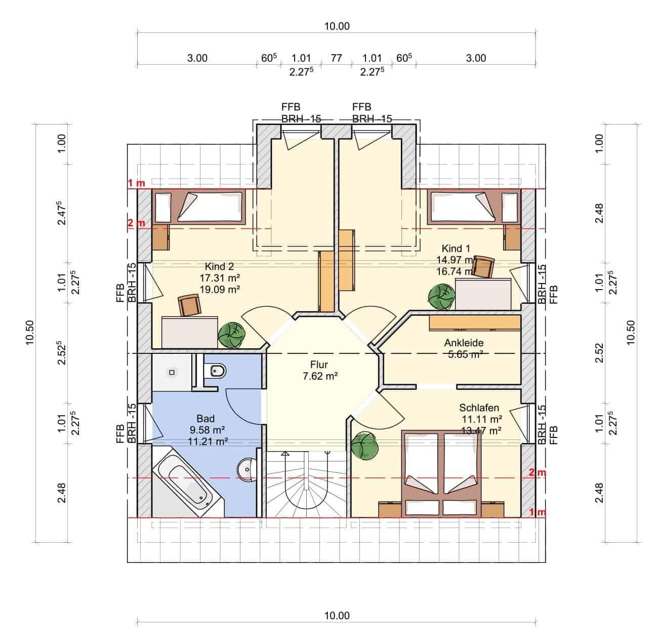 Haus Regenbogen Grundriss Dachgeschoss-1