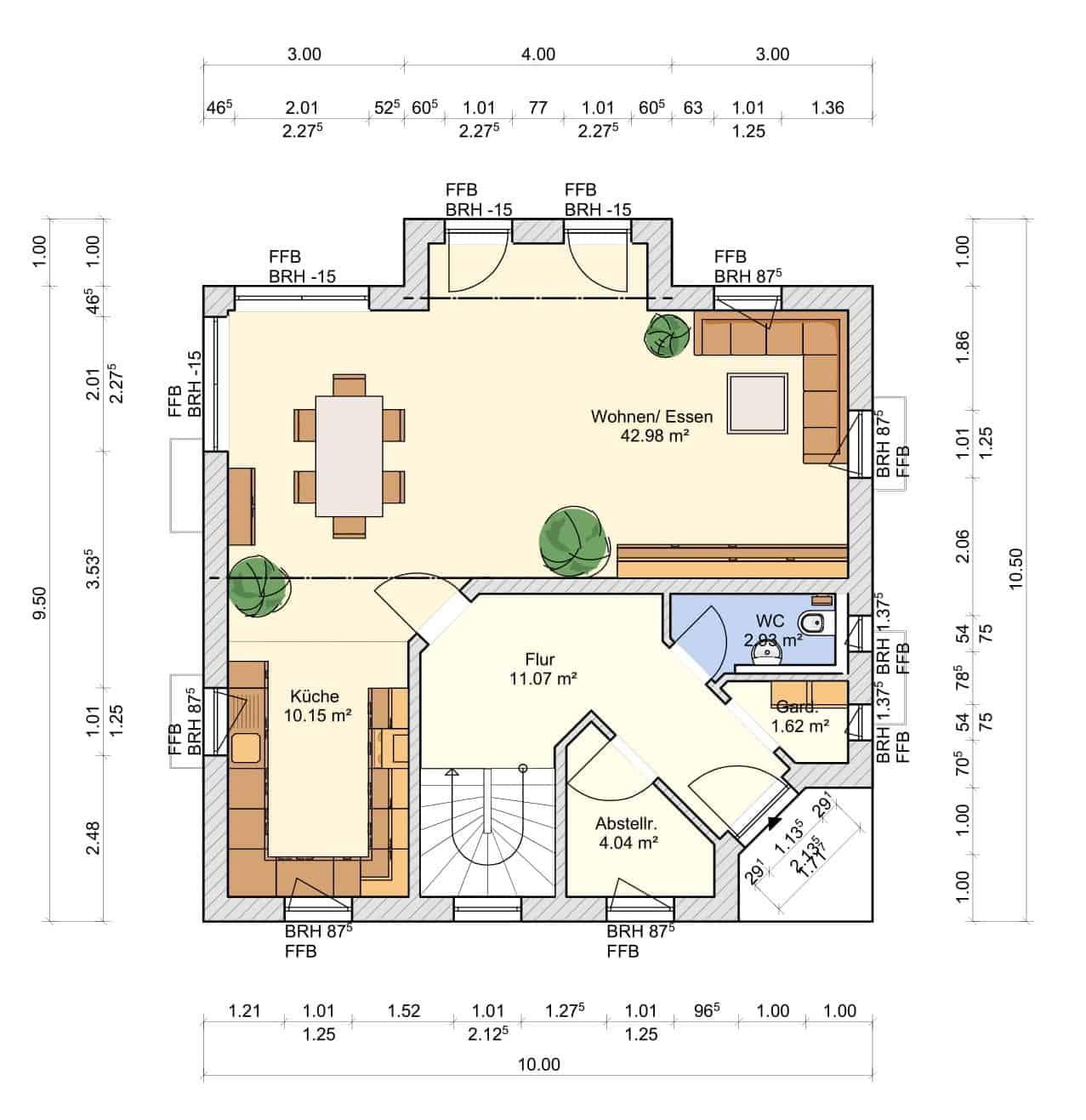 Haus Regenbogen Grundriss Erdgeschoss-1