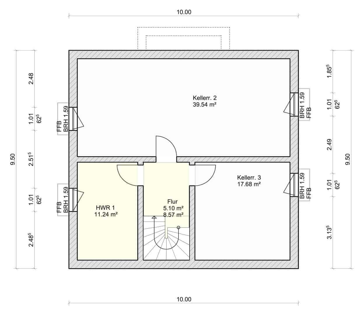 Haus Regenbogen Grundriss Kellergeschoss-1