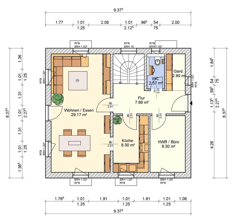 Herbsthaus 2018 Grundriss Erdgeschoss