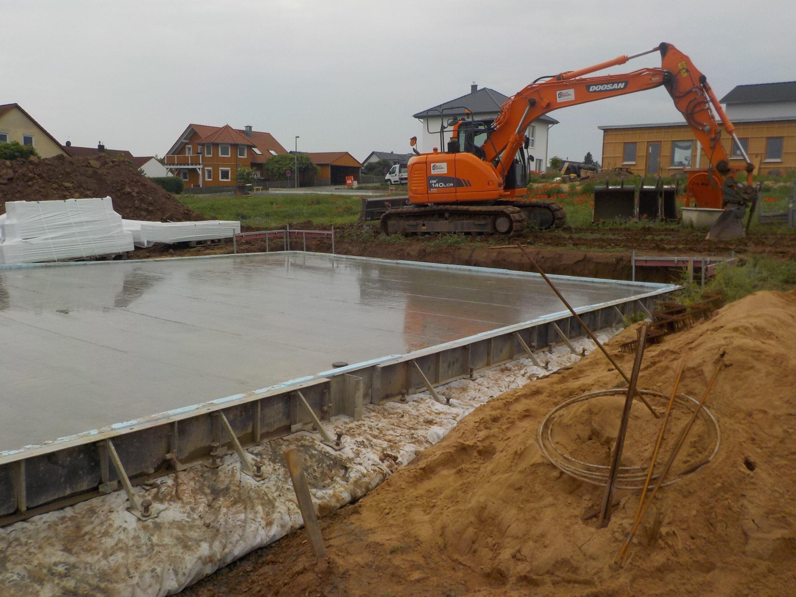 Bodenplatte - An der Wunn 61 - Mainstockheim (1)